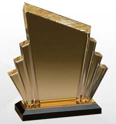 Gold Lucite Acrylic Awards