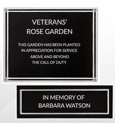 Outdoor Cast Black Aluminum Plaques