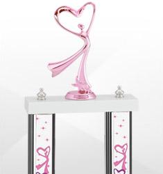 Dazzling Pink Dance Trophies