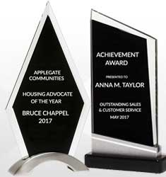 Black Finish Glass Awards