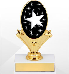 Oval Riser Trophies - White Base