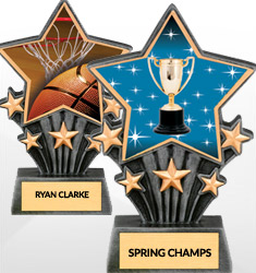 Star Resin Trophies