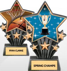 Resin Super Star Trophies