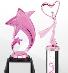Pink Dance Trophies