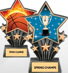 Star Shaped Resin Trophies