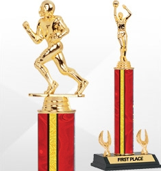 Red and Gold Holographic Trophies