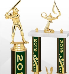 2019 Dated Green and Gold Trophies