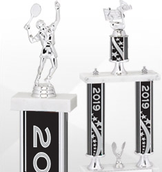 2019 Dated Black and Silver Trophies