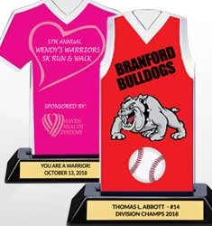 Custom Color Logo Jersey Trophies