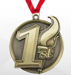 1st Place Dance-A-Thon Medals