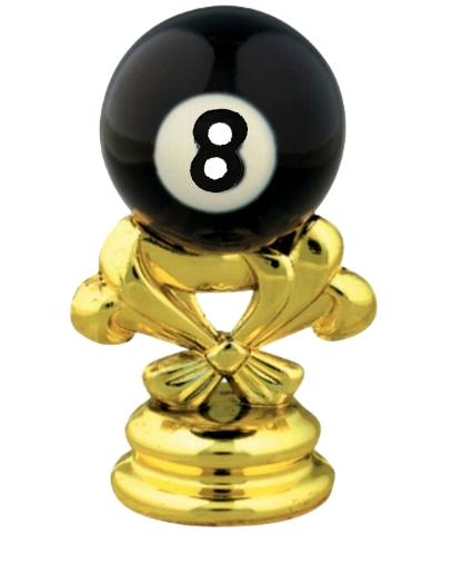 Billiards 8 Ball Gold Trophy Figure