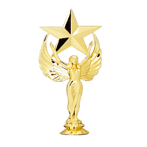 Female Achievement Star Gold Trophy Figure