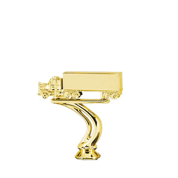 Trailer Truck Gold Trophy Figure