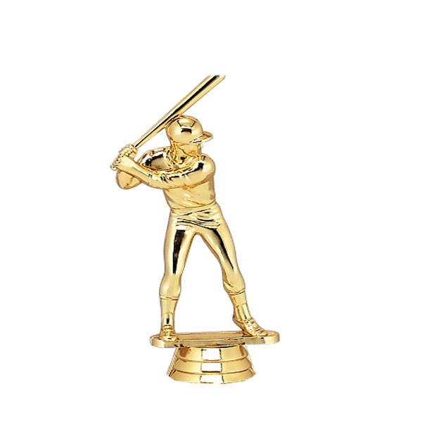 Male Baseball Batter Gold Trophy Figure