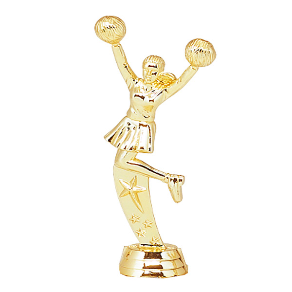 All Star Cheer Gold Trophy Figure