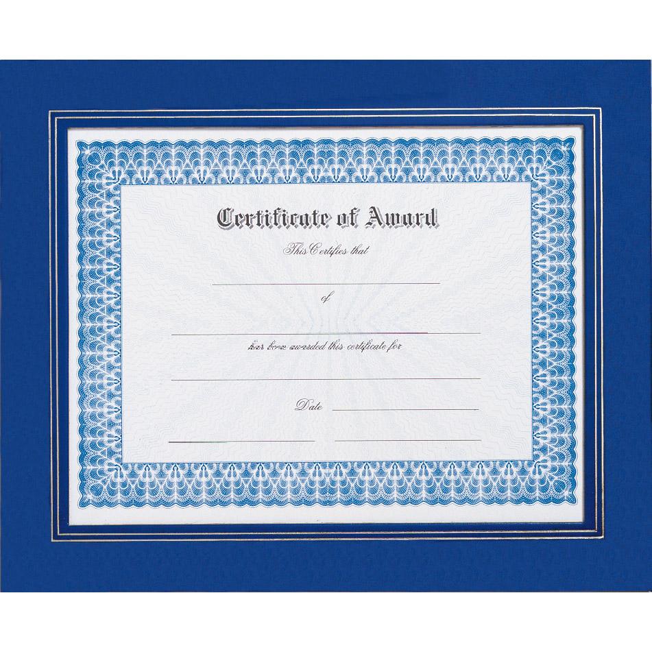 Royal Blue Certificate Frame