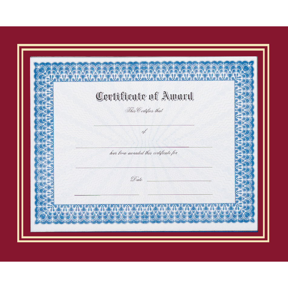 Red Certificate Frame