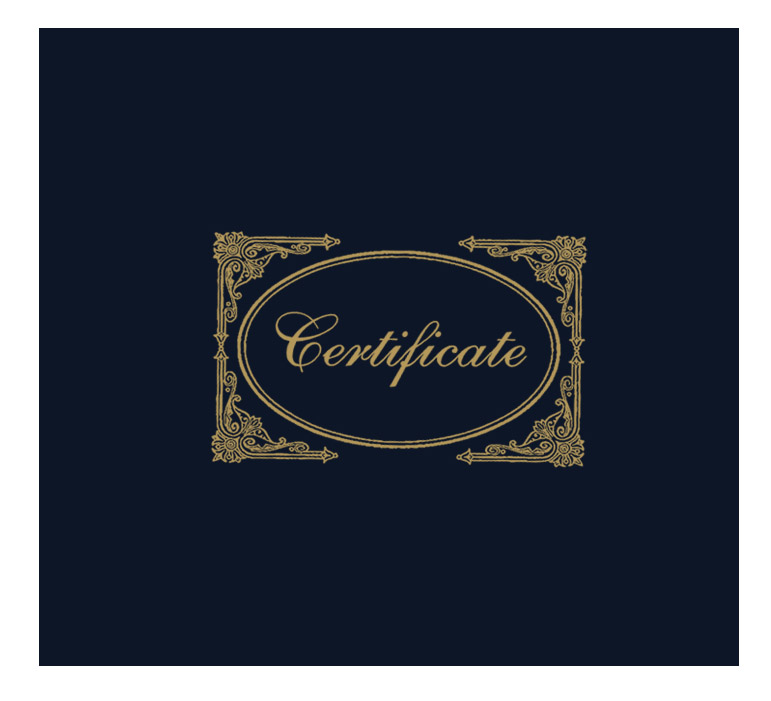 Black Certificate Cover
