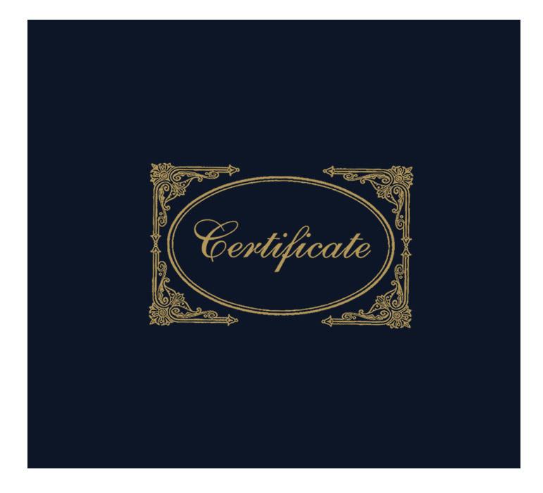 Black Certificate Cover