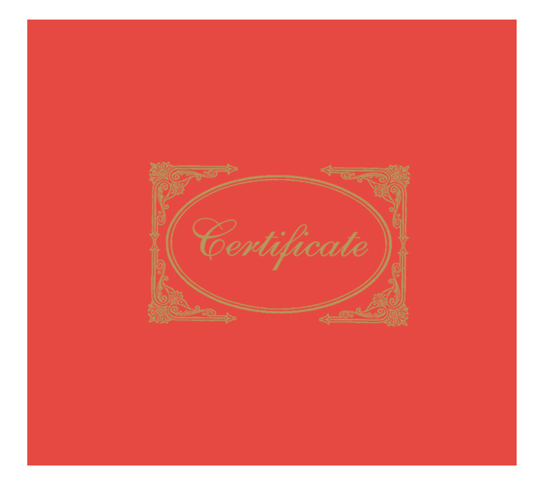 Red Certificate Cover