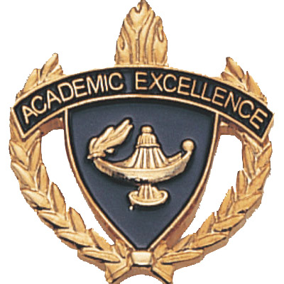 "1"" x 1""  Academic Excellence Clutch Pin Back"