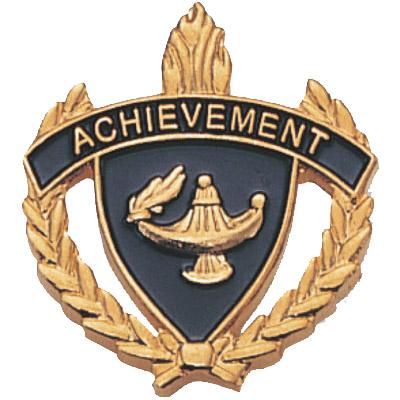 """1"""" x 1"""" Achievement Clutch Pin Back"""
