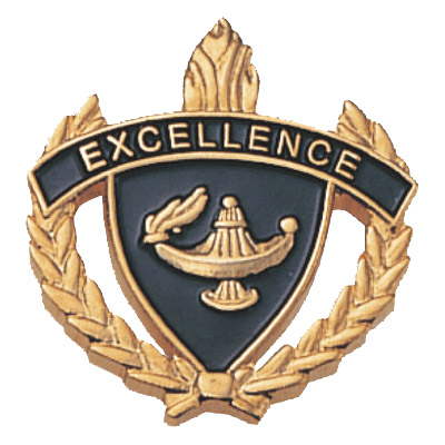 "1"" x 1"" Excellence Clutch Pin Back"