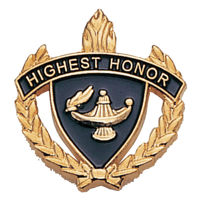 "1"" x 1"" Highest Honor Clutch Pin Back"
