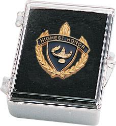 "1"" Highest Honor Clutch Pin Back w/ Box"