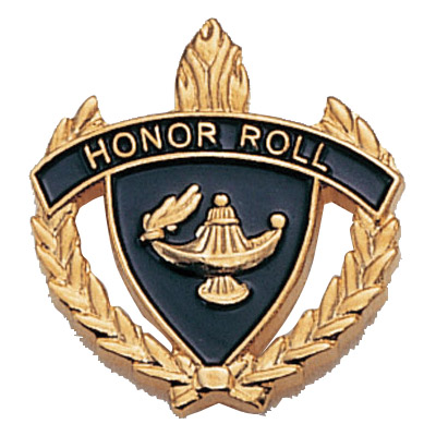 "1"" x 1"" Honor Roll Clutch Pin Back"