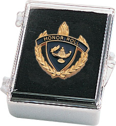 "1"" Honor Roll Clutch Pin Back w/ Box"