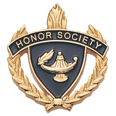 "1"" x 1"" Honor Society Clutch Pin Back"