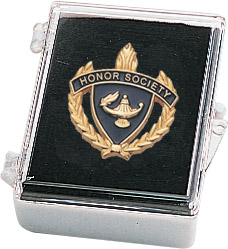 "1"" Honor Society Clutch Pin Back w/ Box"