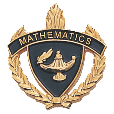 "1"" x 1"" Mathematics Clutch Pin Back"