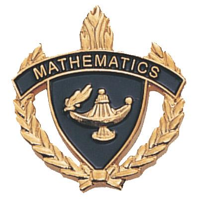 "1"" x 1"" Mathematics Clutch Pin Back"