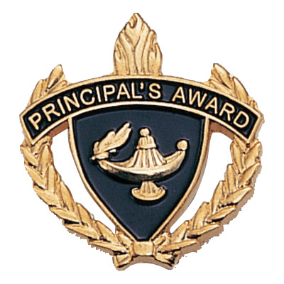 "1"" x 1"" Principal's Award Clutch Pin Back"