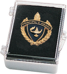 "1"" Principal's Award Clutch Pin Back w/ Box"