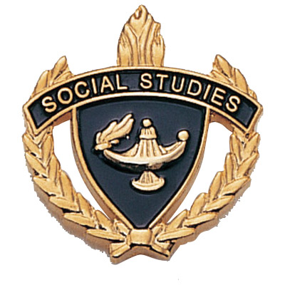 "1"" x 1"" Social Studies Clutch Pin Back"