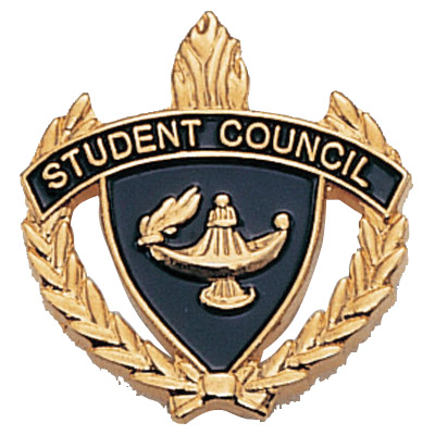 "1"" x 1"" Student Council Clutch Pin Back"