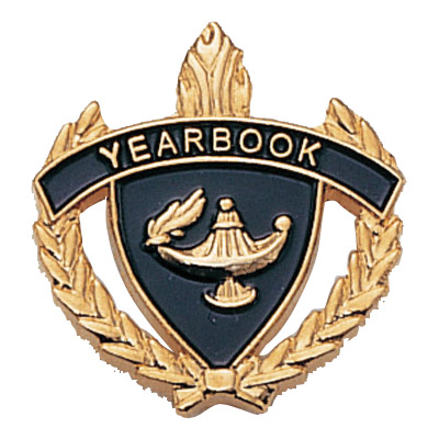 "1"" x 1"" Yearbook Clutch Pin Back"