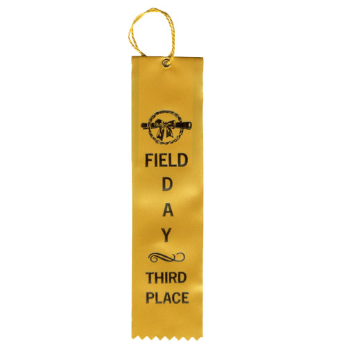 "2"" x 8"" Field Day Third Place Ribbon"