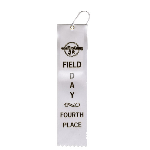 "2"" x 8"" Field Day Fourth Place Ribbon"