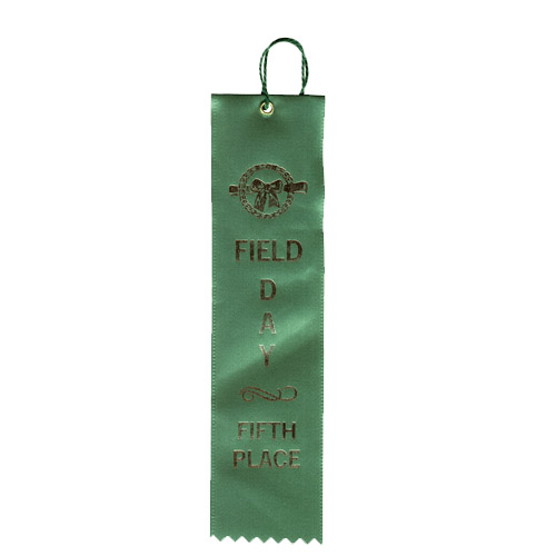 "2"" x 8"" Field Day Fifth Place Ribbon"