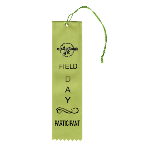 "2"" x 8"" Field Day Participant Ribbon"