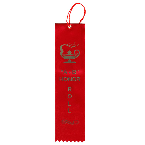 "2"" x 8"" AB Honor Roll Ribbon"