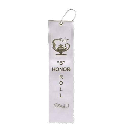 "2"" x 8"" B Honor Roll Ribbon"