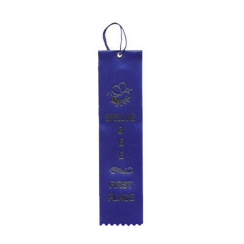 """2"""" x 8"""" Spelling Bee First Place Ribbon"""