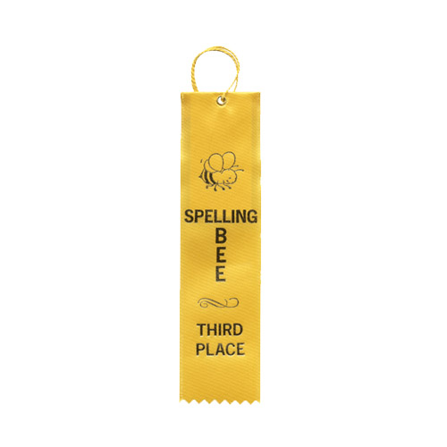 "2"" x 8"" Spelling Bee Third Place Ribbon"