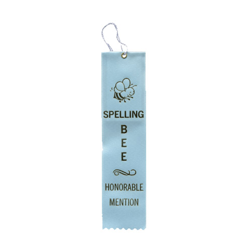 "2"" x 8"" Spelling Bee Honorable Mention Ribbon"