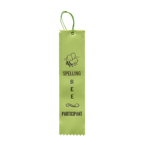 "2"" x 8"" Spelling Bee Participant Ribbon"